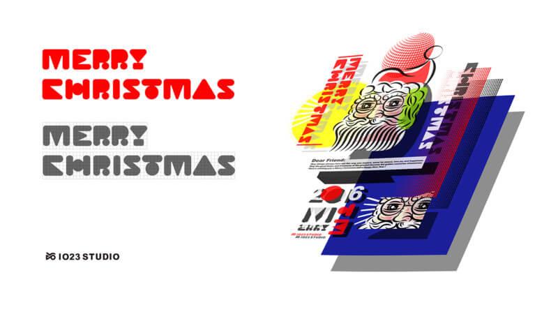 クリスマスのポストカードデザイン