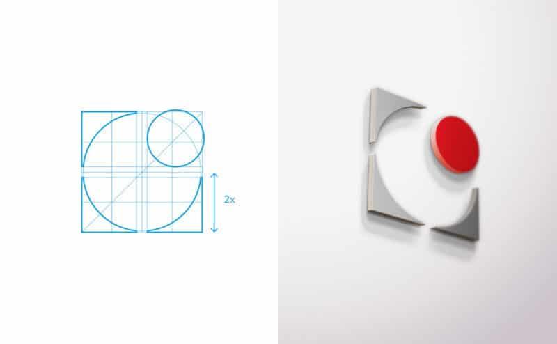 新しい企業ロゴは以前よりスッキリ