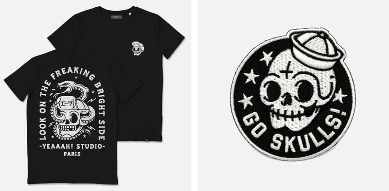 レトロなTシャツデザイン制作例8