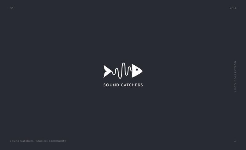 魚をモチーフにしたロゴデザイン