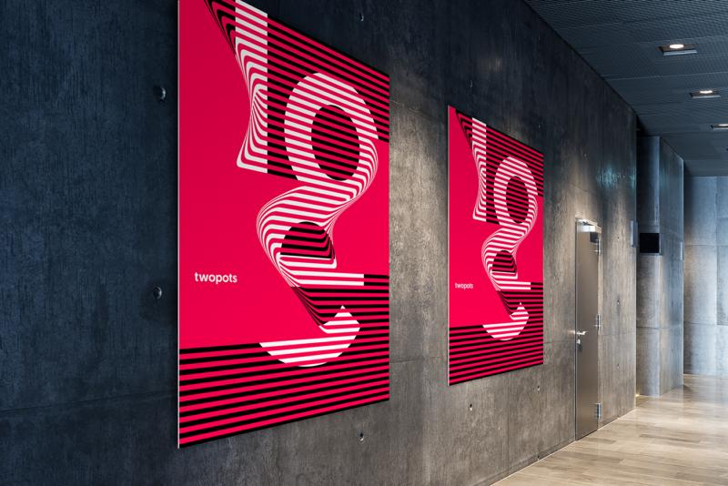 スイススタイルのポスターデザイン作成例