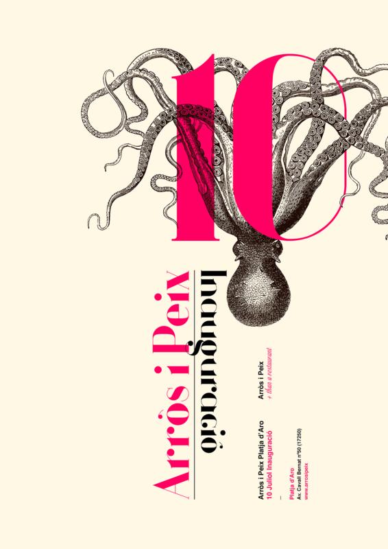 シーフドレストランのポスターデザイン2