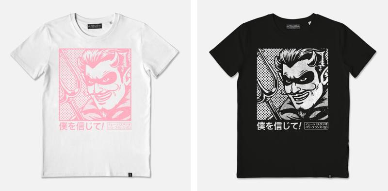 レトロなTシャツデザイン制作例3