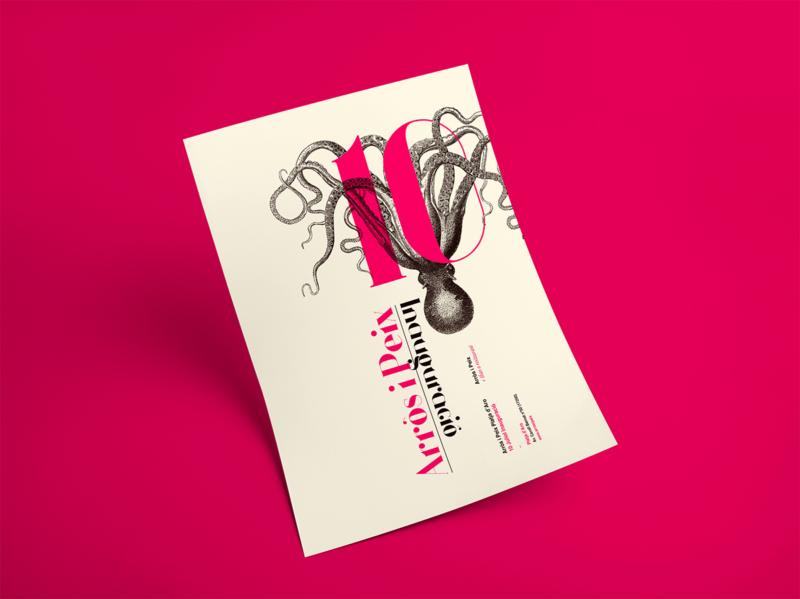 シーフドレストランのポスターデザイン