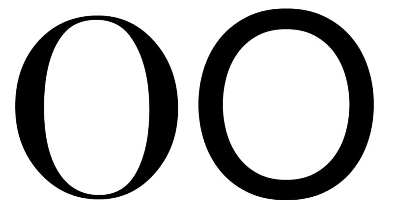 フォントのコントラスト