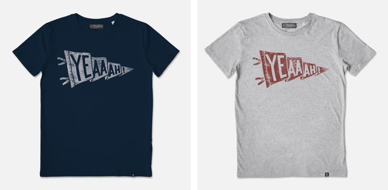 レトロなTシャツデザイン制作例1