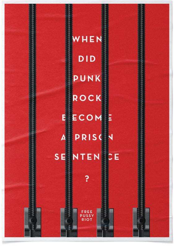 パンクバンドの無実を訴えるキャンペーンポスター2