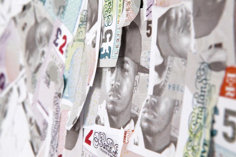 紙幣を模したグラフィックデザイン2