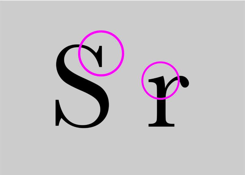 サンセリフ書体-トランジショナルセリフ