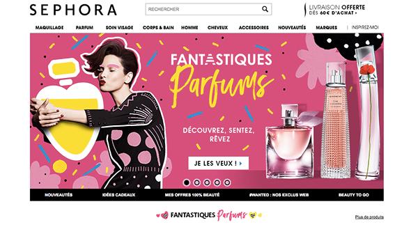 香水ブランドのWEBデザイン