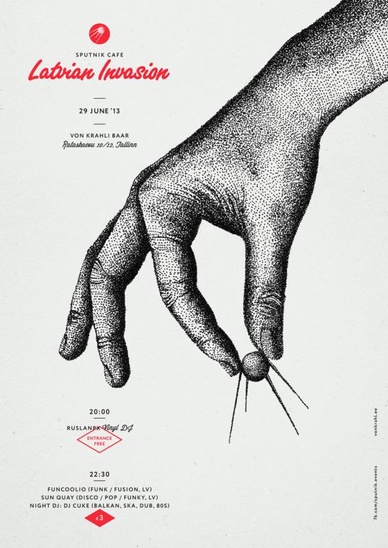 点描で作成されたポスターデザイン