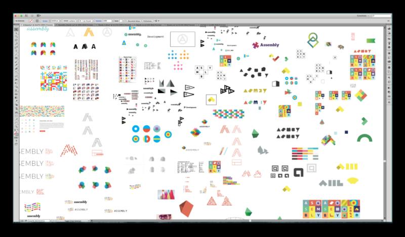 ロゴデザインのアートボード