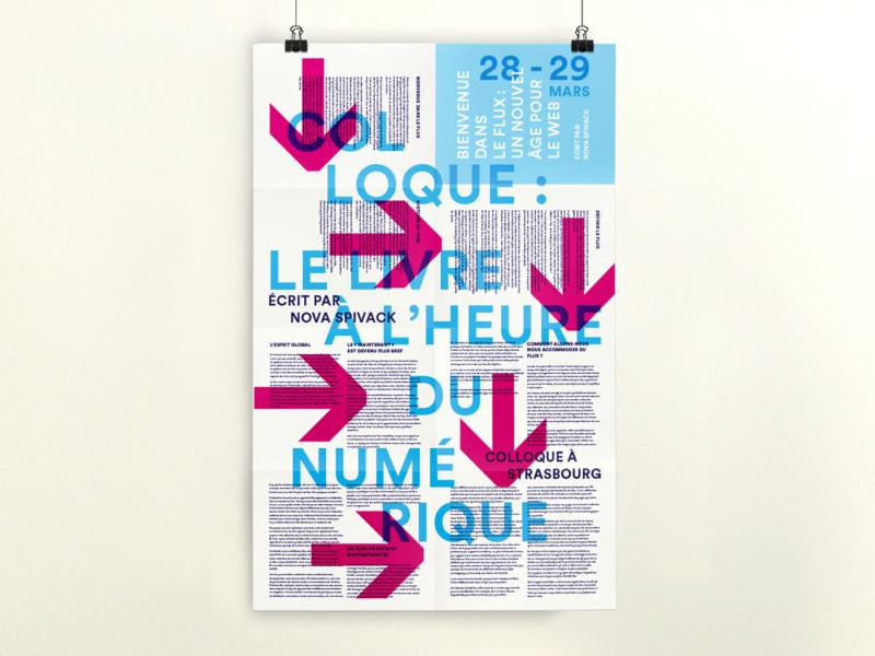 流れを視覚化したポスターデザイン