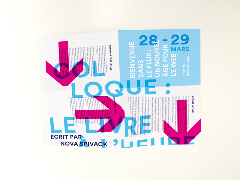 流れを視覚化したポスター・パンフレットデザイン