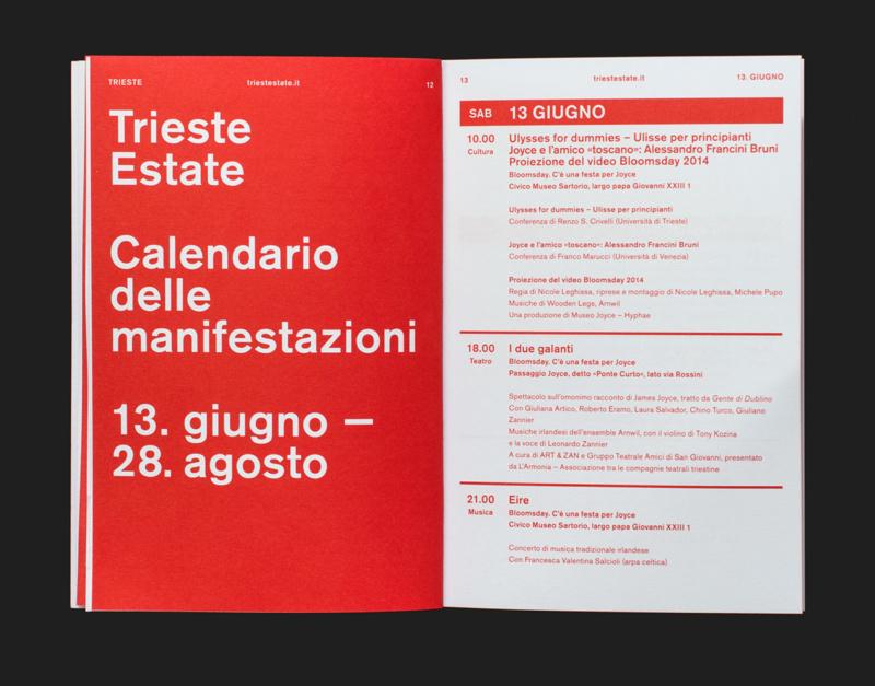 サマーフェスティバルのパンフレットデザイン2