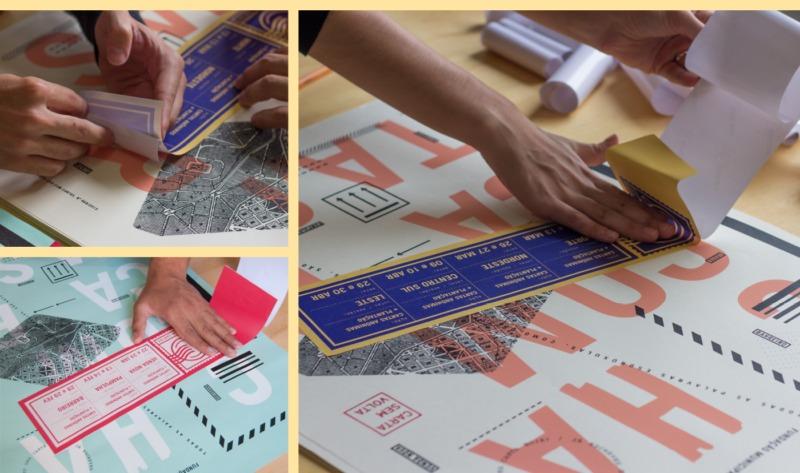ポスターのデザイン風景2
