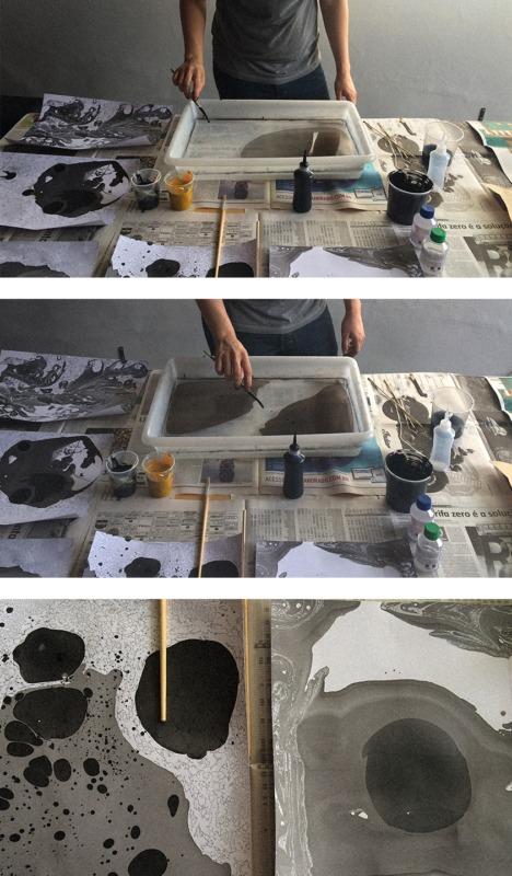 マーブリングの作り方