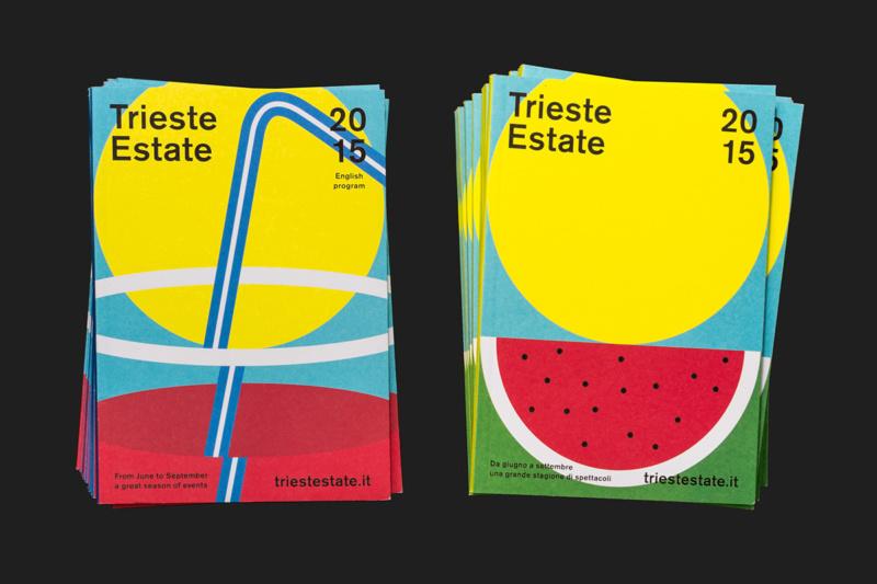 サマーフェスティバルのパンフレットデザイン