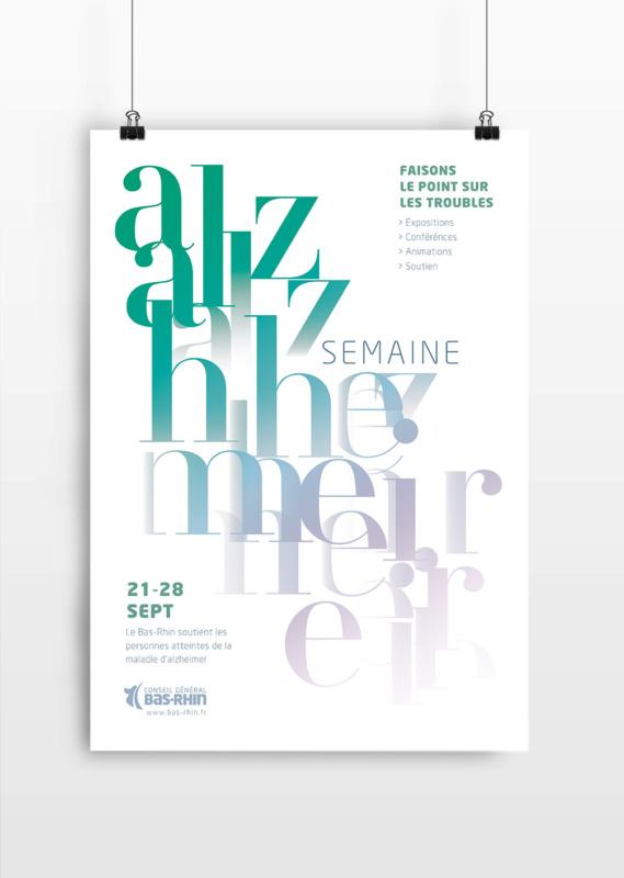 アルツハイマーの啓蒙ポスターデザイン