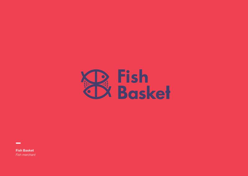 魚モチーフのロゴデザイン