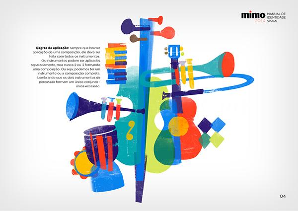 音楽フェスティバルのブランディングとポスター作例