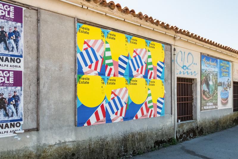 サマーフェスティバルのポスター・パンフレットデザイン