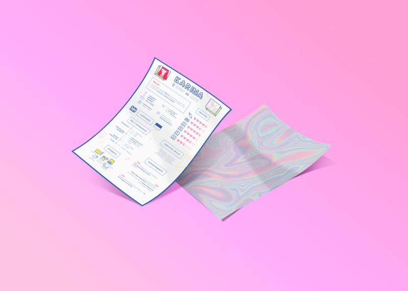 キュートな履歴書デザイン制作例1