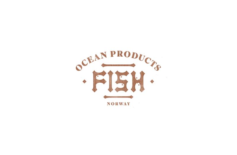 水産加工品のブランドロゴデザイン