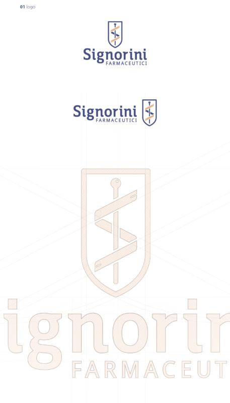 製薬会社のロゴデザイン作成例