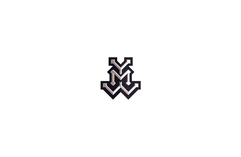 3文字のモノグラムロゴ