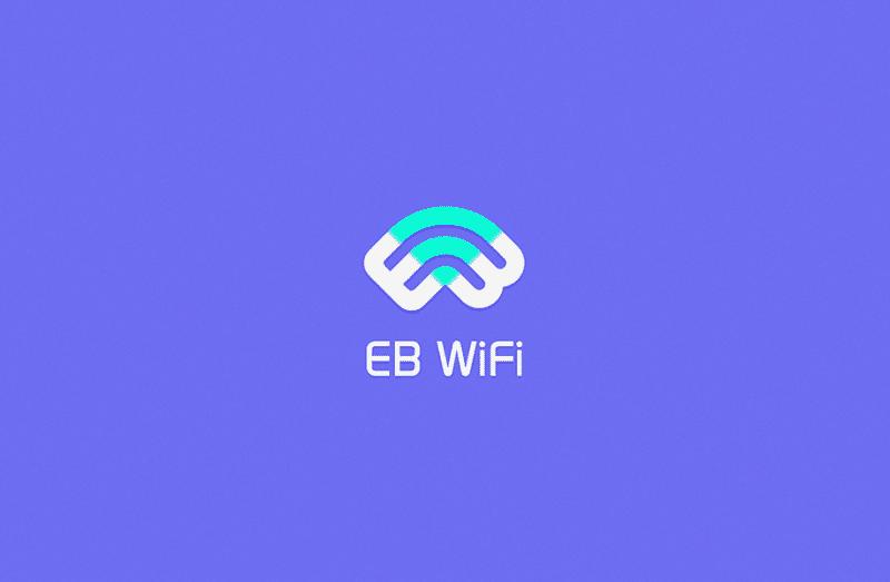 WiFiモチーフのサービスロゴデザイン