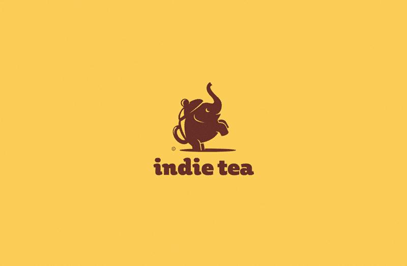 インドの紅茶を扱うブランドロゴ