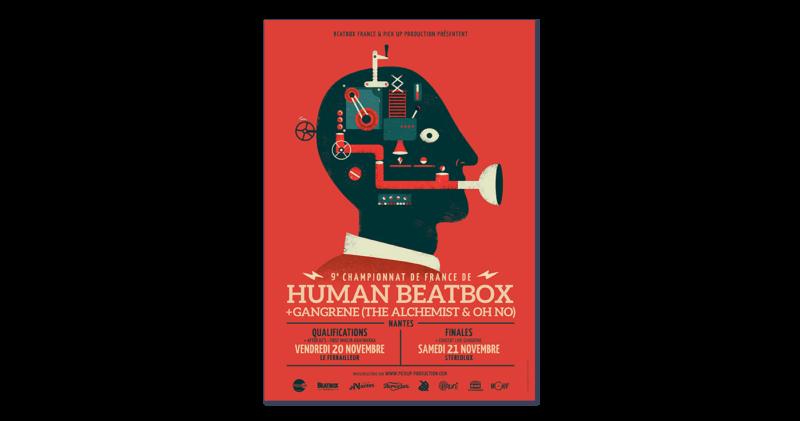 ヒューマンビートボックス大会のポスターデザイン