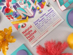 3Dグラフィックスが美しいイベントチラシ・ポスター