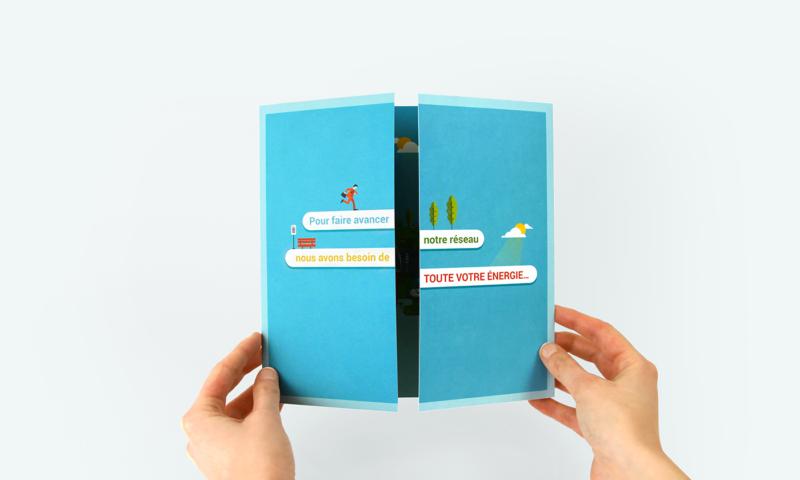 カードの見開きデザイン