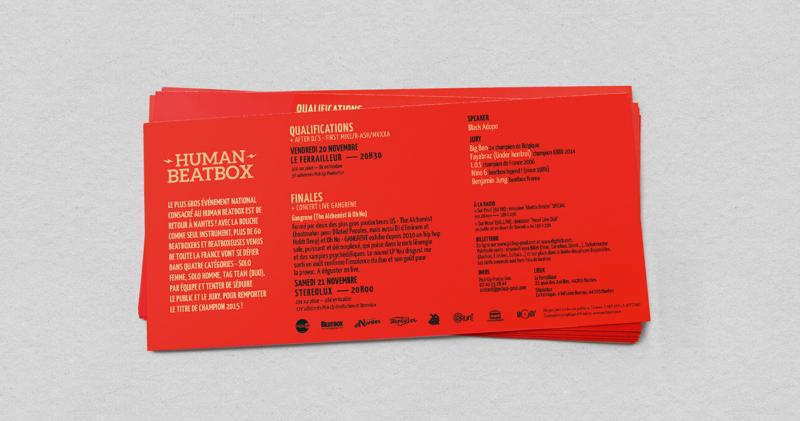 ヒューマンビートボックス競技大会のチラシデザイン