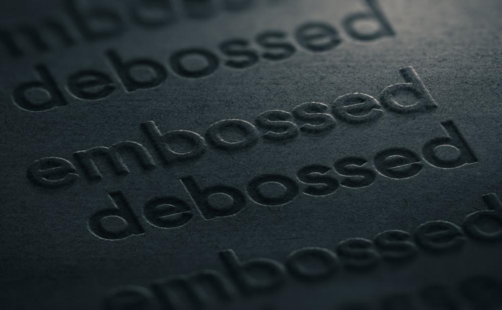 エンボス加工を利用したスタイリッシュな名刺デザインについて