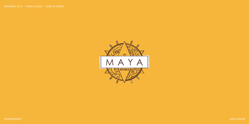 マヤ文明がモチーフのロゴデザイン