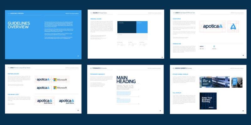 企業ロゴの展開例3