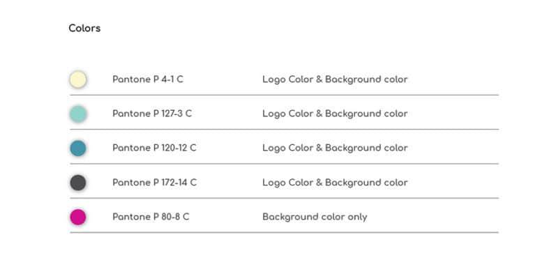 企業ロゴのブランドカラーについて