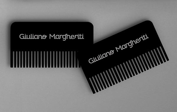 理髪店のユニークな名刺