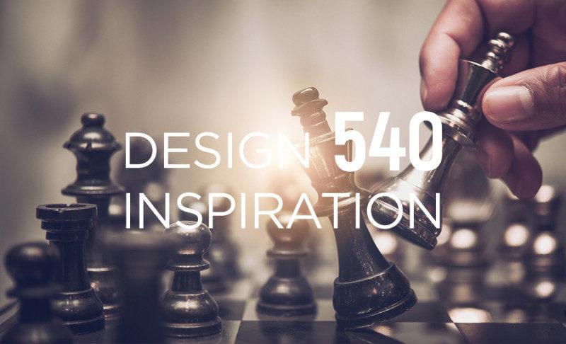 チェスをモチーフにしたロゴデザイン