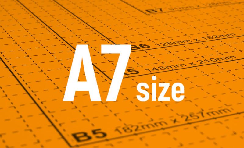 用紙サイズ-A7