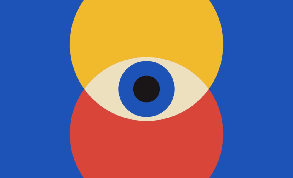 円をモチーフにした表現がミニマルなポスター
