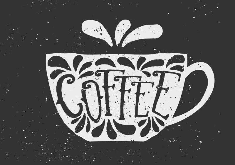 不思議なコーヒーカップのロゴ