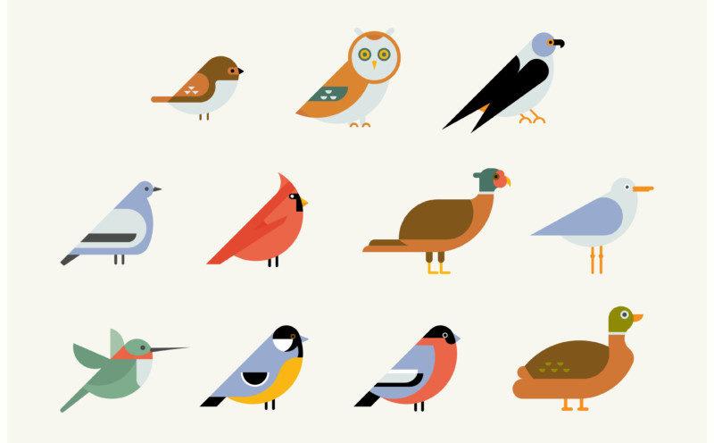 鳥を使ったロゴ作成例