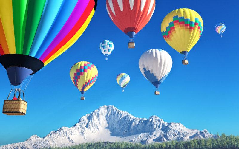 気球を使ったロゴ作成例