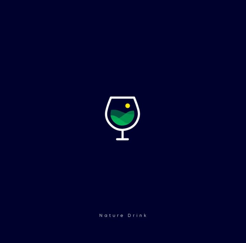 ロゴ作成例_Nature-Drink