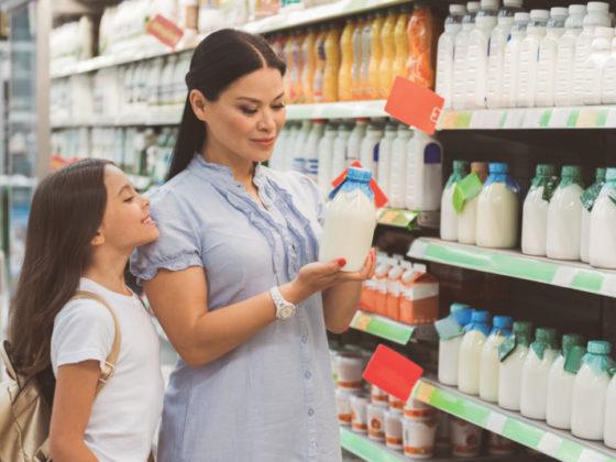 ユニークな牛乳パッケージ