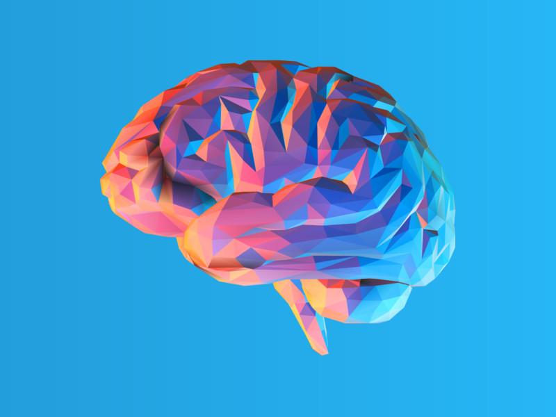 脳を使ったロゴ作成例